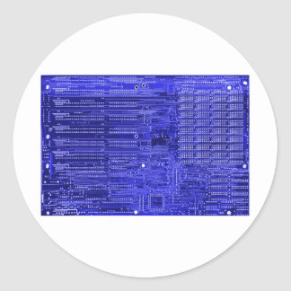 blueray - electronic circuit board classic round sticker