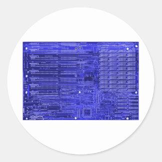 blueray - placa de circuito electrónica pegatina redonda