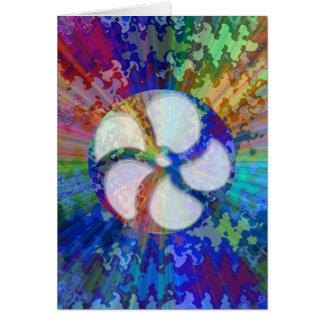 BlueRay Rainbow Floral Chakra Greeting Card