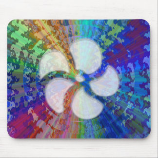 BlueRay Rainbow Floral Chakra Mousepads