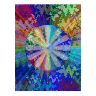 BlueRay Rainbow Floral Chakra Postcard
