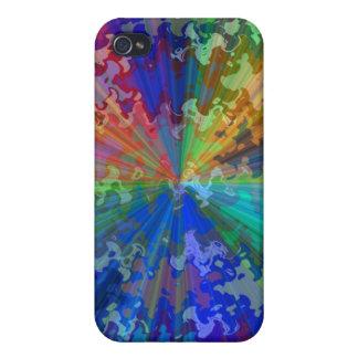 Blueray Spectrum Circular Sparkle Breaker iPhone 4 Covers