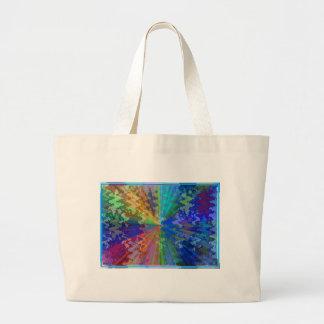 Blueray Spectrum : Circular Sparkle Breaker Large Tote Bag
