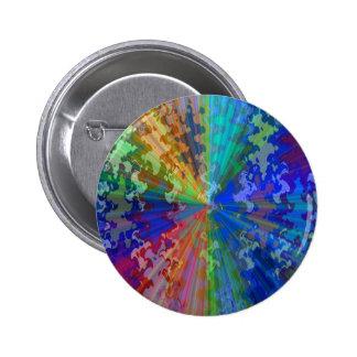 Blueray Spectrum : Circular Sparkle Breaker Pinback Button