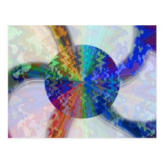 Blueray Spectrum : Circular Sparkle Breaker Postcard