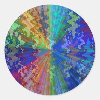 Blueray Spectrum Circular Sparkle Breaker Round Sticker