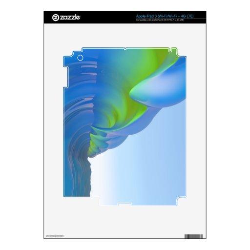 BlueRollers: GreenFlash iPad 3 Pegatina Skin