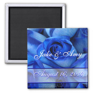 BlueRoses Couples magnet-customize 2 Inch Square Magnet