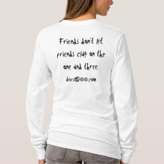Blues411 Ladies Long Sleeve Shirt Slogan