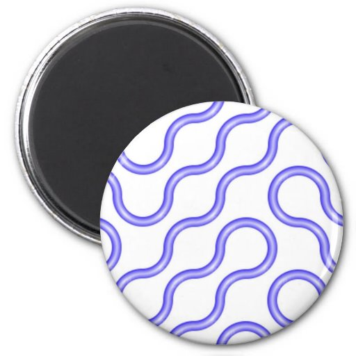 Blues 2 Inch Round Magnet