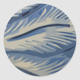 Blues Abstrat Classic Round Sticker