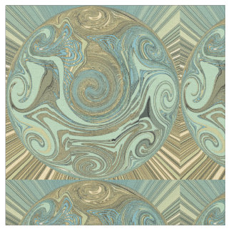 Blues and Golds #3 Fabric