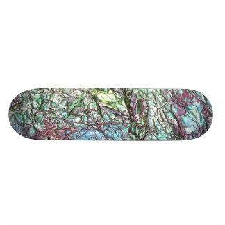 Blues and Greens Skateboard