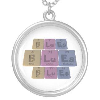 Blues-B-Lu-Es-Boron-Lutetium-Einsteinium.png Round Pendant Necklace