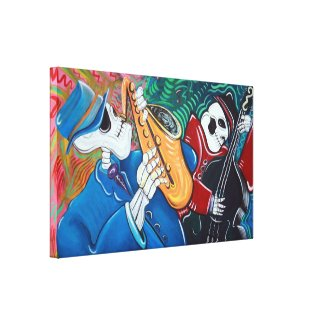 Blues Band Stretched Canvas Print