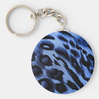 blues basic round button keychain