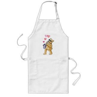 Blues bear long apron