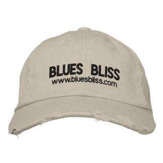 Blues Bliss Distressed Cap Embroidered Baseball Cap