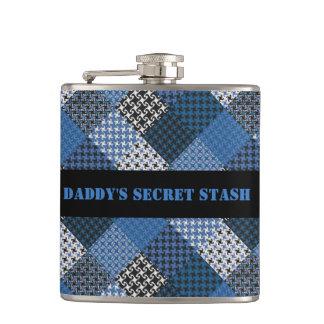 Blues Booze Flask