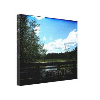 Blues Bridge Canvas Print