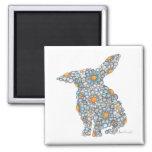 Blues Bunny Magnet