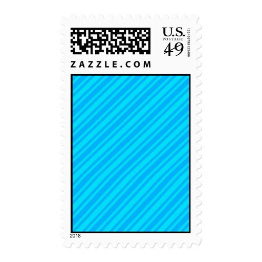 BLUEs CANDY CANE STRIPES WALLPAPER BACKGROUND Postage