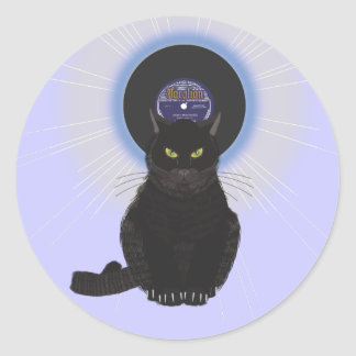 Blues Cat Classic Round Sticker
