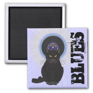 Blues Cat Magnet