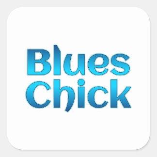 Blues Chick Square Sticker
