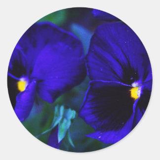 Blues Classic Round Sticker