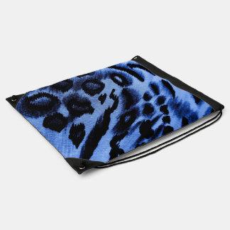 blues drawstring bag