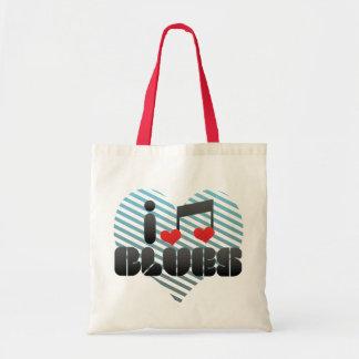 Blues fan canvas bags