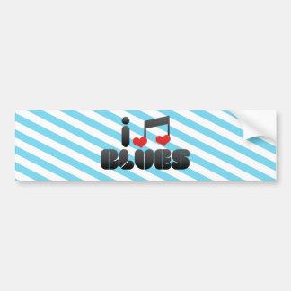 Blues fan car bumper sticker