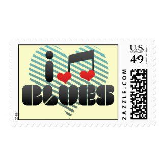 Blues fan stamp