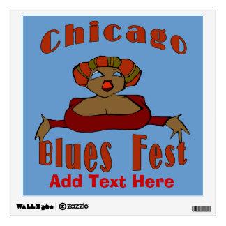 Blues Fest Music Poster Wall Sticker
