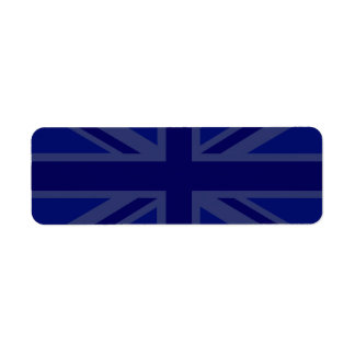 Blues for a Union Jack British Flag Label