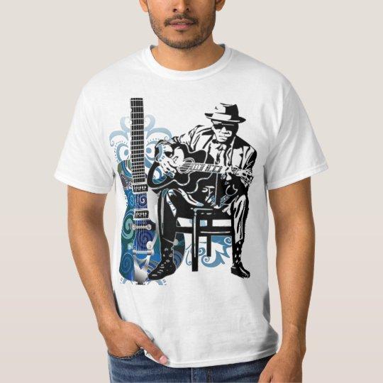 blues guitar man music tshirt