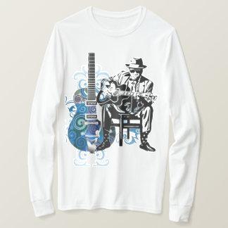 blues guitar man music tshirt long sleeves
