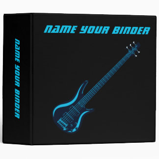 Blues Guitar Personalized Music Binder