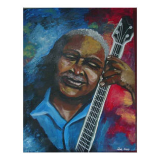 Blues Guitar Player 2 Art Poster