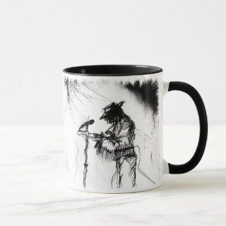Blues Guitar Player and Band on Stage Mug