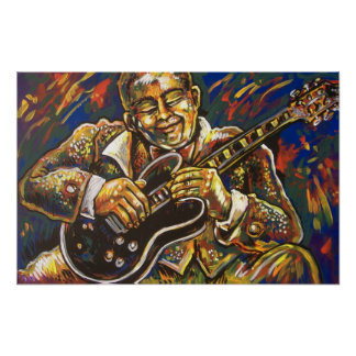 blues guitar poster