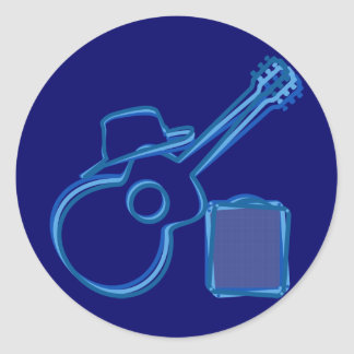Blues Guitar Stickers