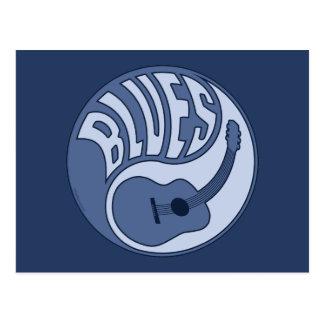 Blues Guitar Yin Postcard Postcard