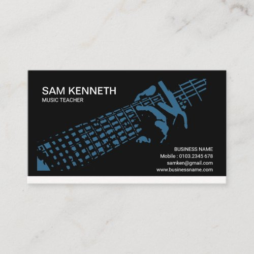 Blues Guitarist Music Teacher Business Card