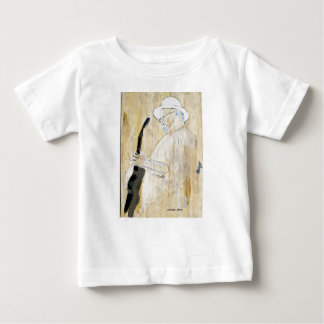 Blues Guitarist Painting in Orange and browns Infant T-shirt