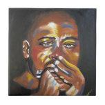 Blues Harmonica Musician African American Art Tile
