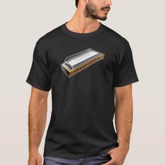 Blues Harmonica - Tshirt dark