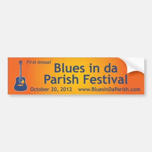 Blues in da Parish Bumper Sticker