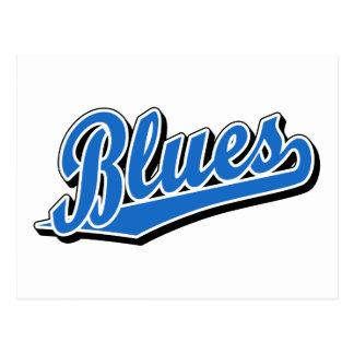 Blues in Light Blue Postcard
